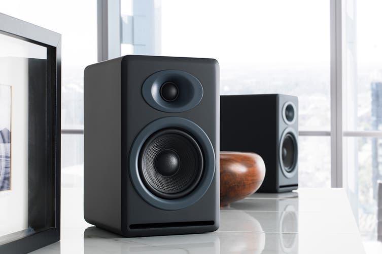 Audioengine P4 Passive Bookshelf Speakers Pair - Satin Black