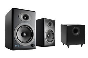 Audioengine 5+ Wireless Powered Speakers Pair with Subwoofer - Satin Black