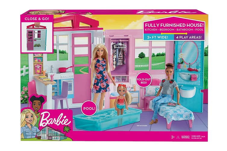 Barbie Dollhouse Portable Playset