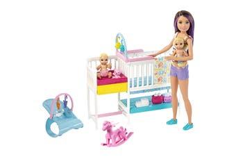 Barbie Skipper Babysitters Inc Nap 'n' Nurture Nursery Dolls and Playset