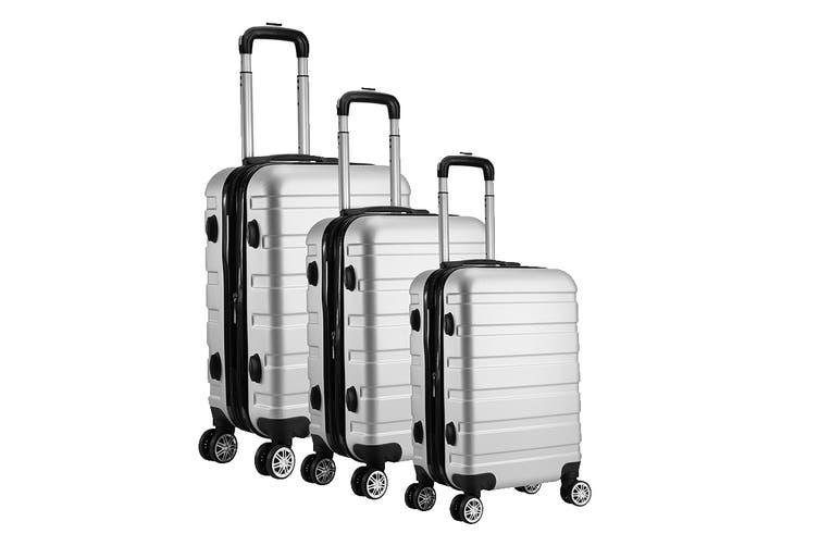 Milano Luggage XPander Series 3 Piece Set (Silver)
