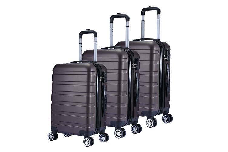 Milano Luggage XPander Series 3 Piece Set (Brown)