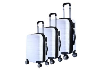 Milano Luggage XPander Series 3 Piece Set (White)