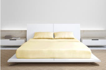 Royal Comfort 1000TC Bamboo Blend Bed Sheet Set (King, Dark Ivory)