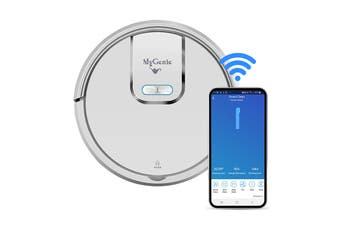 MyGenie GMAX Wi-Fi Robotic Vacuum Cleaner – White