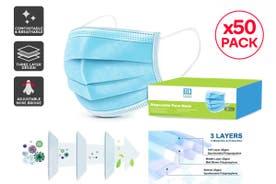 50 x 3 Ply Disposable PM 2.5 Zen Face Mask