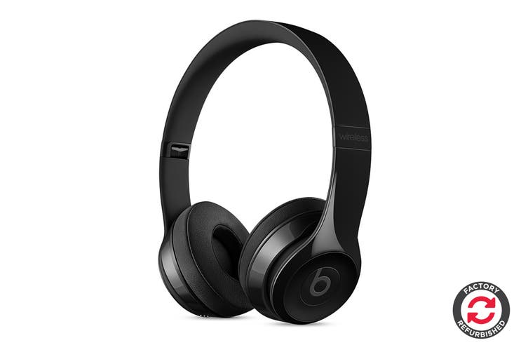 Beats Solo3 Wireless Headphones Refurbished (Gloss Black) - A- Grade