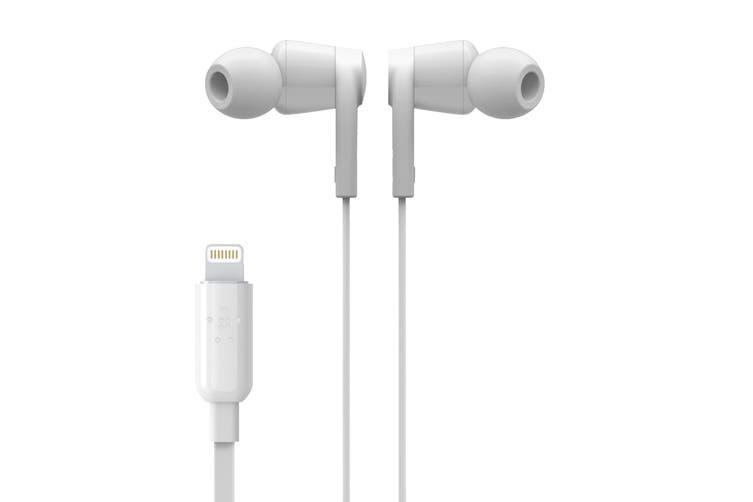 Belkin Rockstar Earphones with Lightning Connector - White