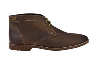Ben Sherman Men's Gabe Leather Chukka Boot (Dark Brown, Size 8 US)
