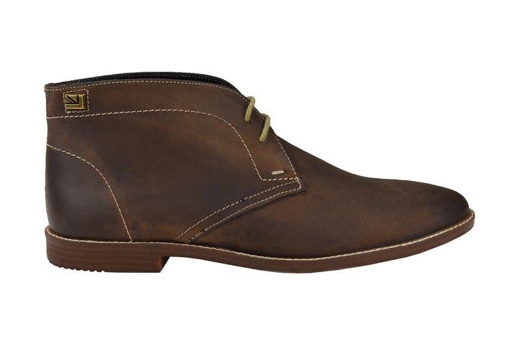 Ben Sherman Men's Gabe Leather Chukka Boot (Dark Brown, Size 9 US)