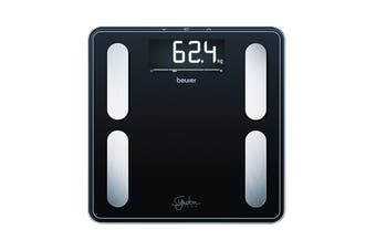 Beurer Digital Glass Body Fat Scale: Signature Line Black (BF400B)