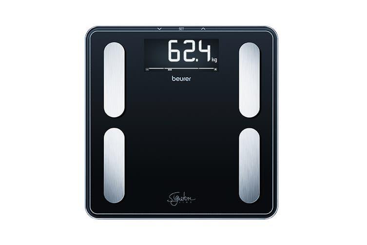 Beurer Digital Glass Body Fat Scale: Signature Line Black (BF400B)