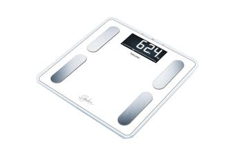Beurer Digital Glass Body Fat Scale: Signature Line White (BF400W)