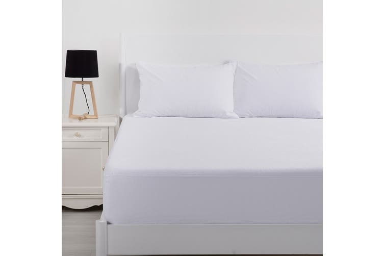 Bianca Velour Touch Deluxe Cotton Waterproof Mattress Protector (Double)