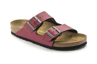 Birkenstock Arizona Birko Flor Regular Fit Sandal (Pull Up Red, Size 37 EU)
