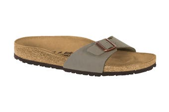 Birkenstock Madrid Birko-Flor Nubuck Regular Fit Sandal (Stone, Size 42 EU)