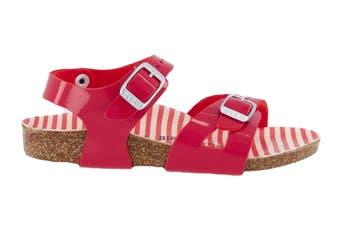 Birkenstock Kids Rio Birko-Flor Narrow-Fit Sandal (Nautical Stripes Red)