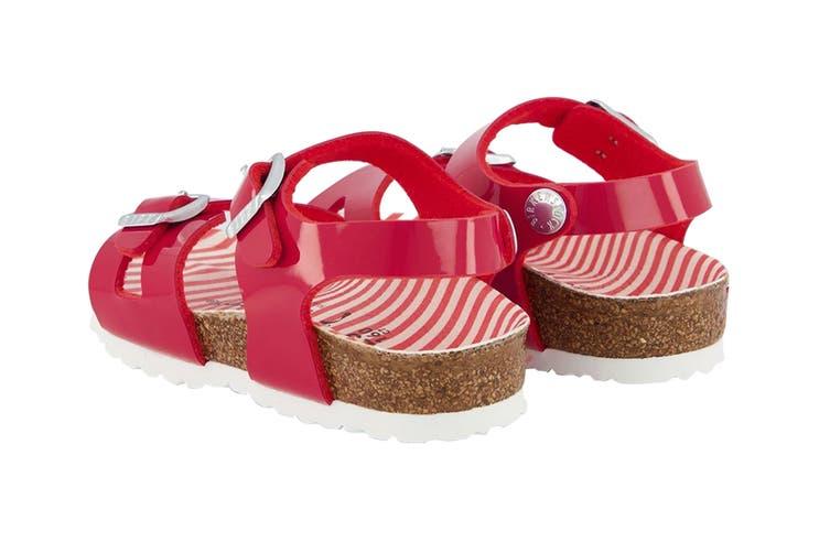 Birkenstock Kids Rio Birko-Flor Narrow Fit Sandal (Nautical Stripes Red, Size 26 EU)