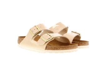 Birkenstock Women's Arizona Patent Regular Fit Sandal (Sand, Size 42 EU)