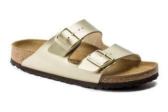 Birkenstock Women's Arizona Birko-Flor Sandal (Gold, Size 36 EU)