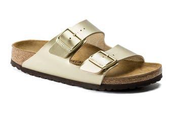 Birkenstock Women's Arizona Birko-Flor Sandal (Gold, Size 37 EU)