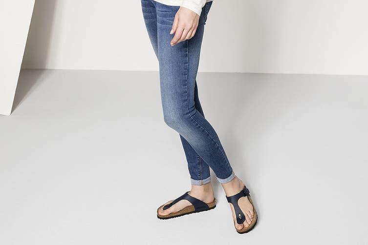 Birkenstock Gizeh Birko-Flor Regular Fit Sandal (Blue, Size 44 EU)
