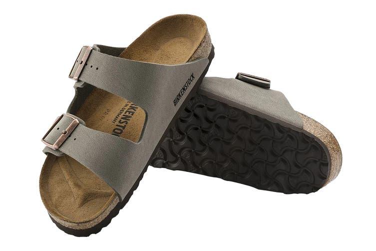 Birkenstock Arizona BF-Nubuck Narrow Fit Sandal (Mocha, Size 38 EU)