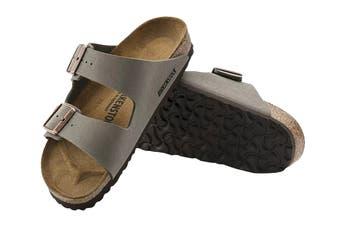 Birkenstock Arizona Birko-Flor Nubuck Regular Fit Sandal (Stone, Size 45 EU)