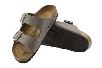 Birkenstock Arizona Birko-Flor Nubuck Narrow-Fit Sandal (Stone)