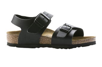Birkenstock Kids New York Birko-Flor Narrow Fit Sandal (Black, Size 32 EU)