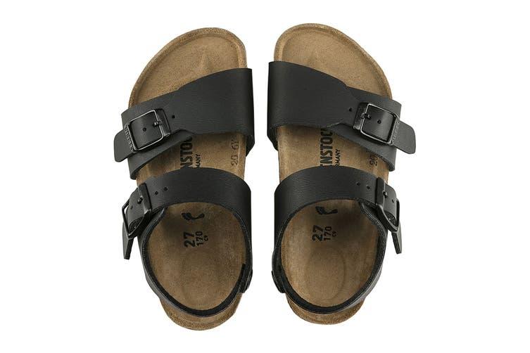 Birkenstock Kids New York Birko-Flor Narrow Fit Sandal (Black, Size 32 EU)