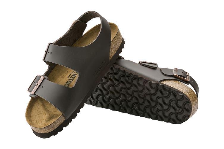 Birkenstock Unisex Milano Smooth Leather Regular Fit Sandal (Dark Brown, Size 41 EU)
