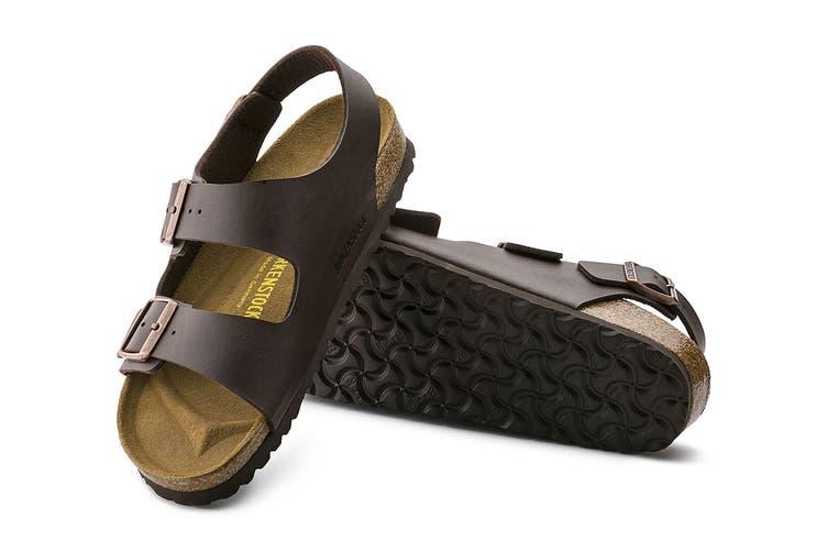 Birkenstock Unisex Milano Birko-Flor Sandal (Dark Brown, Size 38 EU)