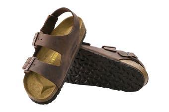 Birkenstock Unisex Milano Oiled Leather Sandal (Habana)