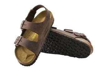 Birkenstock Unisex Milano Oiled Leather Regular Fit Sandal (Habana, Size 42 EU)