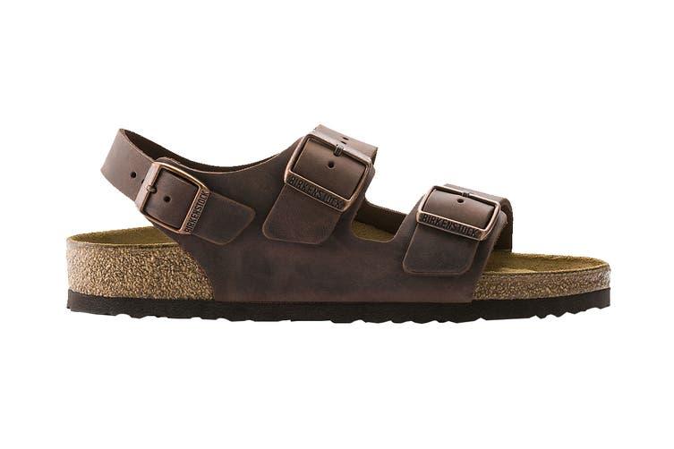 Birkenstock Unisex Milano Oiled Leather Regular Fit Sandal (Habana, Size 43 EU)