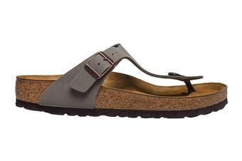 Birkenstock Unisex Gizeh Birkibuc Sandal (Stone, Size 38 EU)