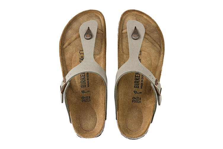 Birkenstock Unisex Gizeh Birkibuc Sandal (Stone, Size 42 EU)