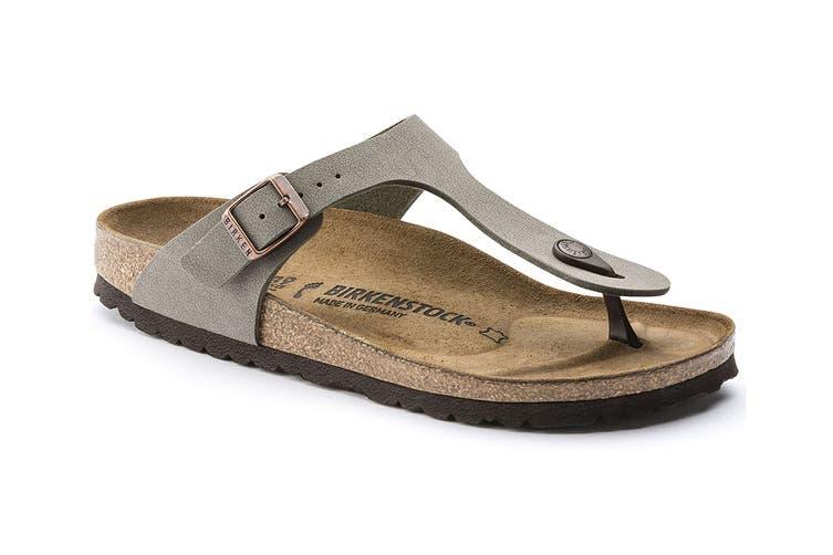 Birkenstock Gizeh Birko-Flor Nubuck Narrow Fit Sandal (Stone, Size 41 EU)