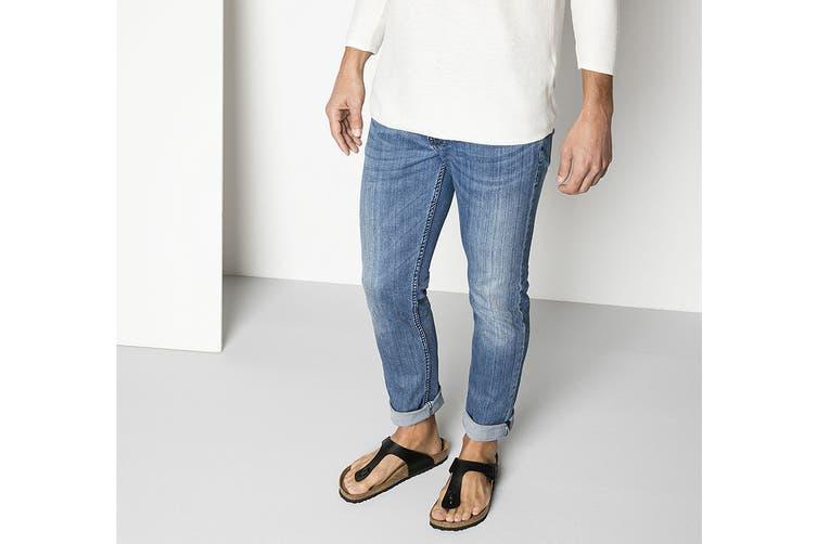 Birkenstock Gizeh Birko-Flor Regular Fit Sandal (Black, Size 45 EU)