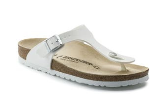 Birkenstock Gizeh Birko-Flor Narrow Fit Sandal (White, Size 36 EU)