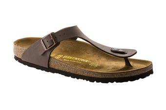 Birkenstock Gizeh Birko-Flor Nubuck Regular Fit Sandal (Mocha, Size 37 EU)