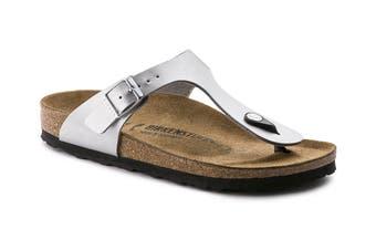 Birkenstock Gizeh Birko-Flor Narrow Fit Sandal (Silver)