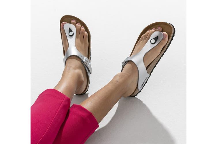 Birkenstock Gizeh Birko-Flor Narrow Fit Sandal (Silver, Size 36 EU)
