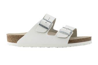Birkenstock Unisex Arizona Leather Narrow-Fit Sandal (White)
