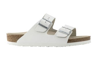 Birkenstock Unisex Arizona Leather Narrow-Fit Sandal (White)
