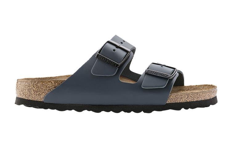 Birkenstock Unisex Arizona Leather Narrow Fit Sandal (Blue, Size 36 EU)