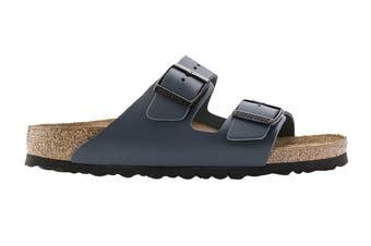 Birkenstock Unisex Arizona Leather Narrow Fit Sandal (Blue, Size 40 EU)