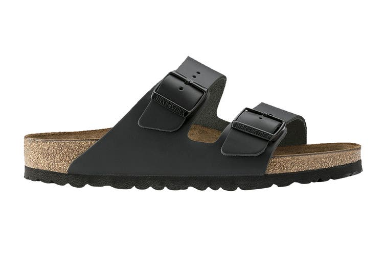 Birkenstock Unisex Arizona Leather Narrow Fit Sandal (Black, Size 39 EU)