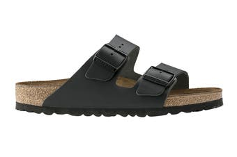 Birkenstock Unisex Arizona Leather Narrow-Fit Sandal (Black)